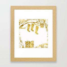 Gold Christmas 02 Framed Art Print