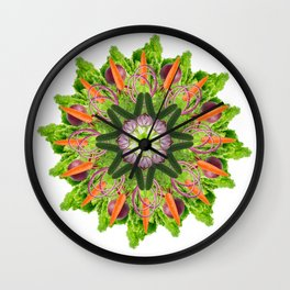 veggies mandala Wall Clock