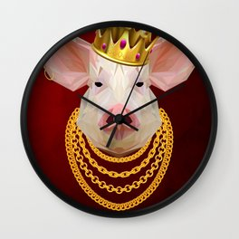 The King of Pigs Wall Clock