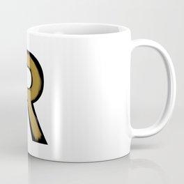 Minimalist R Gold Stroke Coffee Mug