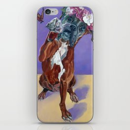 Hazel the Princess Boxer Girl iPhone Skin