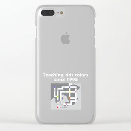 Teaching Kids Colors Since 1995 - Kanto Map Clear iPhone Case