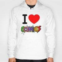 dc comics Hoodies featuring I LOVE COMICS by DeMoose_Art