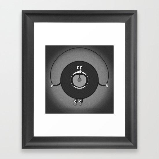 old skipping record Framed Art Print