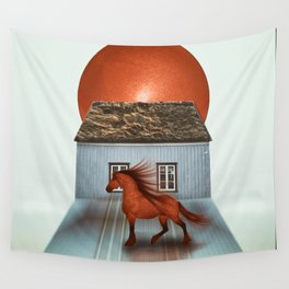 The red horse Wall Tapestry