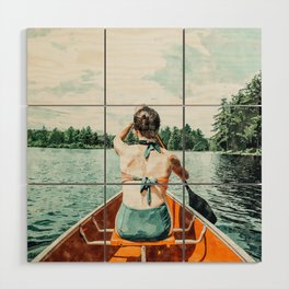 Row Your Own Boat #illustration #decor #painting Wood Wall Art
