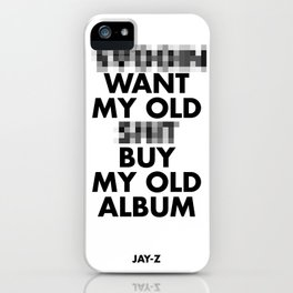 Jay Z edited  iPhone Case