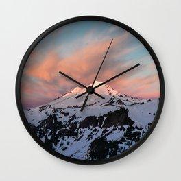Mount Baker Mountain Adventure Sunset - Nature Photography Wall Clock