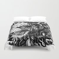 lion Duvet Covers featuring Lion by BIOWORKZ