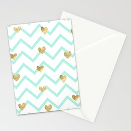 Love Sign on Zigzag Line Background Stationery Cards