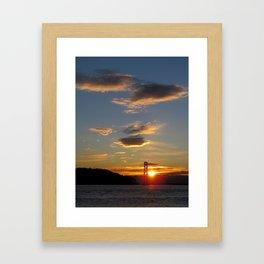 and the sun rises again Framed Art Print