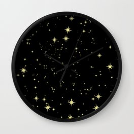 The Night Stars Wall Clock