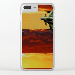 Typhoon at Sunset Clear iPhone Case