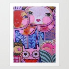 Colorful Us  Art Print