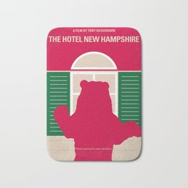 No443 My The Hotel New Hampshire minimal movie poster Bath Mat