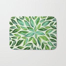 Spring Leaf Mandala Bath Mat