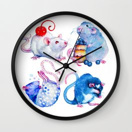 Sweet Rats Wall Clock