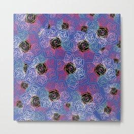 Rose Kaleidoscope Metal Print