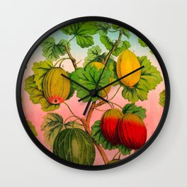 Gooseberry Fruit Branch Wall Clock