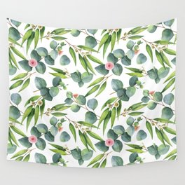 Bamboo and eucaliptus pattern Wall Tapestry