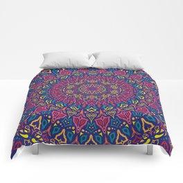 Paradise Sunset Mandala Comforters