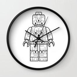 Skull-Brick Wall Clock