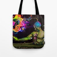 alchemy Tote Bags featuring Alchemy Resonance by Archan Nair