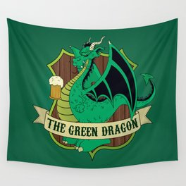 The Green Dragon Pub Wall Tapestry