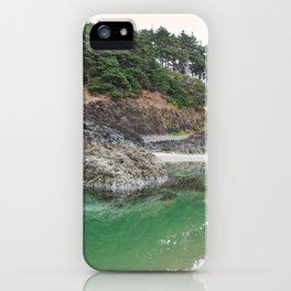 Oregon Coast Tide Pool Green Glowing Forest Coastal Cliff Rocky Landscape Beach Northwest Volcano iPhone Case