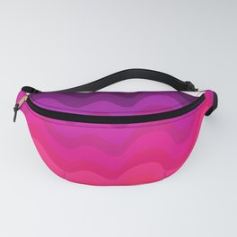 Retro Ripple in Pinks Fanny Pack