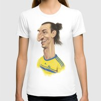 sweden T-shirts featuring Ibrahimovic - Sweden by Sant Toscanni