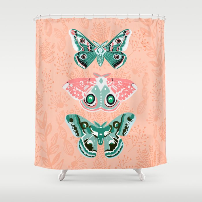 Lepidoptery No. 3 by Andrea Lauren  Shower Curtain