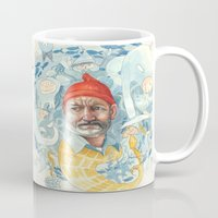 life aquatic Mugs featuring AQUATIC by busymockingbird
