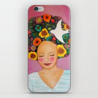 florence iPhone & iPod Skins featuring florence by sylvie demers