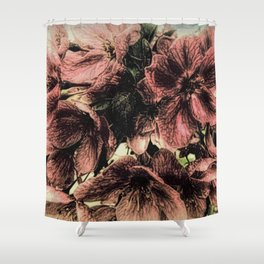 Rustic Cherry Flower Cottage Modern Country Art A423 Shower Curtain