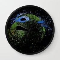 leo Wall Clocks featuring Leo by Arian Noveir