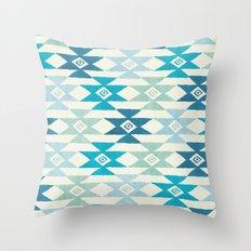 Triaqua Throw Pillow