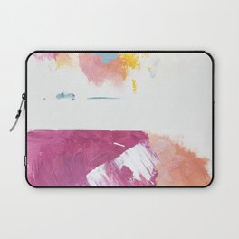 Cotton Candy: a bright, colorful abstract in pinks, blues, yellow, and white Laptop Sleeve