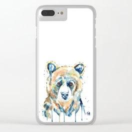 Peekaboo Bear Clear iPhone Case