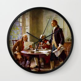 Writing The Declaration of Independence Wall Clock