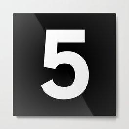 Number 5 (White & Black) Metal Print