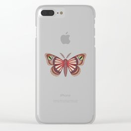 demon (made up moth) Clear iPhone Case