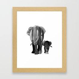 A walk together (black and white) Framed Art Print