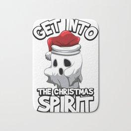 Get Into The Christmas Spirit Spooky X-Mas Ghost Bath Mat