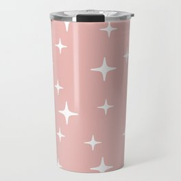 Mid Century Modern Star Pattern 443 Dusty Rose Travel Mug