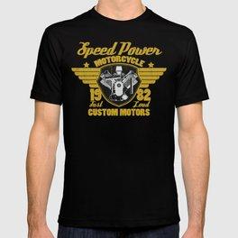Vintage Motorcycle Engine Motorcycle Racing Biker Gift  T-shirt