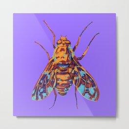 Tiger Bee Fly Metal Print