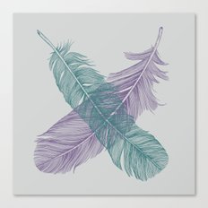 X Feathers Canvas Print
