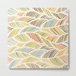 Fine Feather Pattern Metal Print