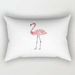 flamingo bird print paint Rectangular Pillow